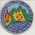 <b>insigne du jamborée national 1985</b> <br /> Le thème est aujourd'hui construison demain